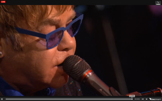 Elton singing Tiny Dancer